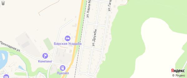 Улица Дружбы на карте Каменномостского поселка Адыгеи с номерами домов