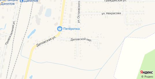 Деповской переулок в Данилове с номерами домов на карте. Спутник и схема онлайн