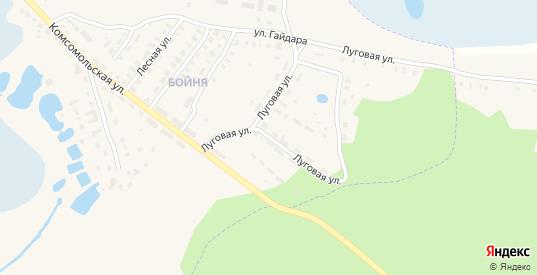 Луговая улица в Спасе-Клепики с номерами домов на карте. Спутник и схема онлайн