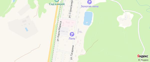 Улица Гагарина на карте Каменномостского поселка Адыгеи с номерами домов