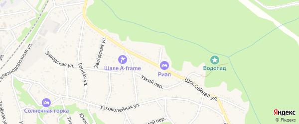 Шоссейная улица на карте Каменномостского поселка Адыгеи с номерами домов
