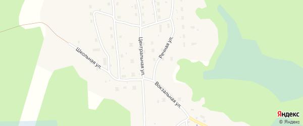 Зеленая улица на карте Шестиозерского поселка с номерами домов