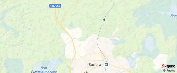 Карта сельсовета Вожегодского Вологодской области с районами, улицами и номерами домов