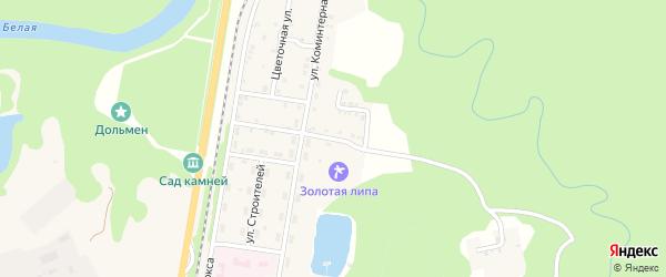 Улица Куйбышева на карте Каменномостского поселка Адыгеи с номерами домов