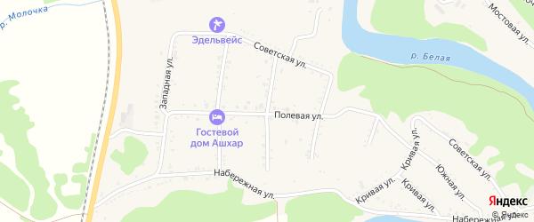 Улица Крылова на карте Абадзехской станицы Адыгеи с номерами домов