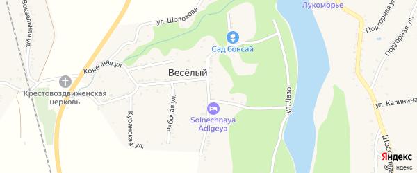 Улица Энгельса на карте хутора Веселый (Абадзехское с/п) Адыгеи с номерами домов