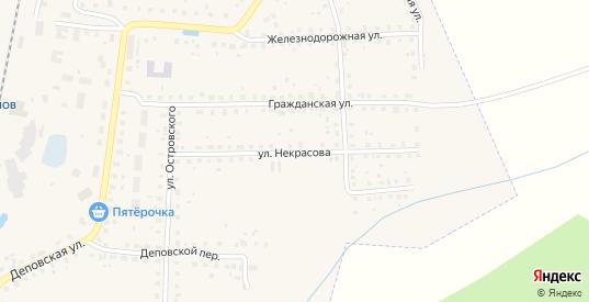 Улица Некрасова в Данилове с номерами домов на карте. Спутник и схема онлайн