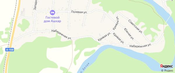 Набережная улица на карте Абадзехской станицы с номерами домов