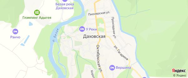 Карта Даховской станицы в Адыгее с улицами и номерами домов