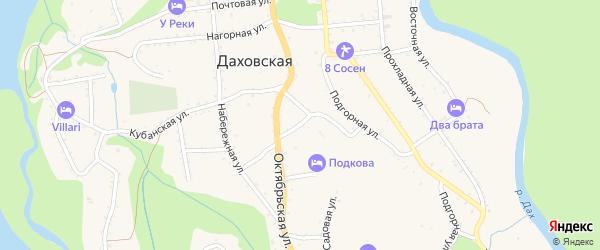 Колхозная улица на карте Даховской станицы Адыгеи с номерами домов