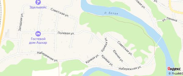Улица Щорса на карте Абадзехской станицы Адыгеи с номерами домов