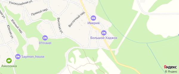 Крайний переулок на карте Каменномостского поселка Адыгеи с номерами домов