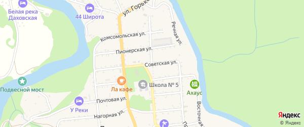 Улица Ленина на карте Даховской станицы Адыгеи с номерами домов