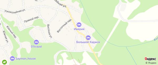 Восточная улица на карте Каменномостского поселка Адыгеи с номерами домов