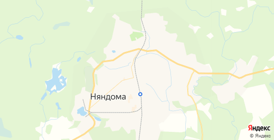 Карта Няндомы с улицами и домами подробная. Показать со спутника номера домов онлайн