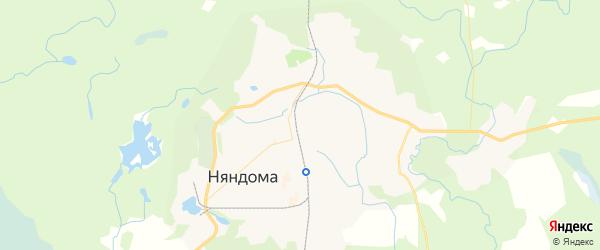 Карта Няндомы с районами, улицами и номерами домов
