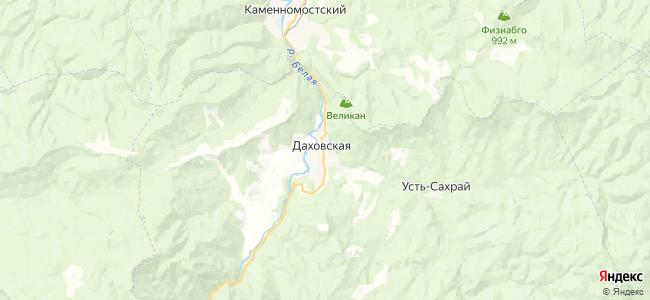 Даховская на карте