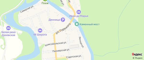 Речная улица на карте Даховской станицы Адыгеи с номерами домов