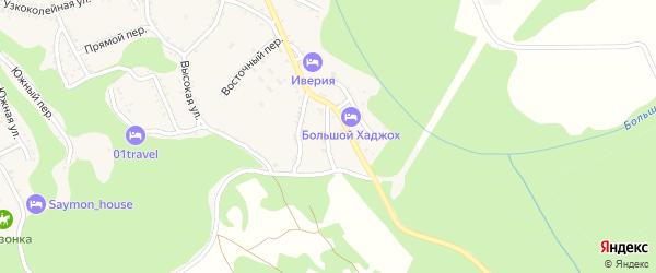 Конечный переулок на карте Каменномостского поселка Адыгеи с номерами домов