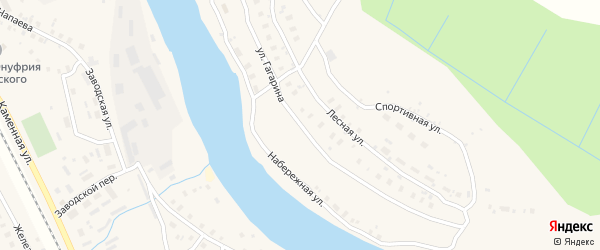 Улица Гагарина на карте Харовска с номерами домов