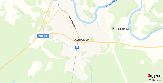 Карта Харовска с улицами и домами подробная. Показать со спутника номера домов онлайн