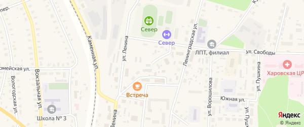 Колхозная улица на карте Харовска с номерами домов