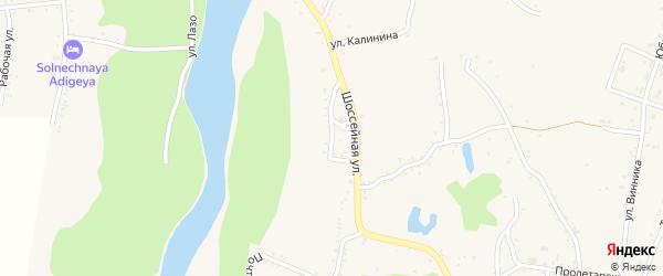 Глухой переулок на карте Абадзехской станицы Адыгеи с номерами домов