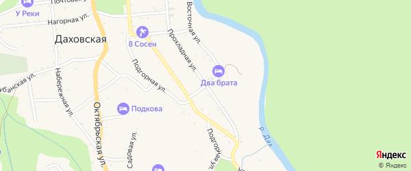 Улица Свободы на карте Даховской станицы с номерами домов