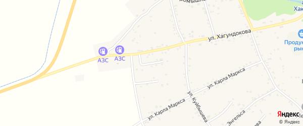 Улица им З.Р.Даурова на карте аула Мамхег Адыгеи с номерами домов