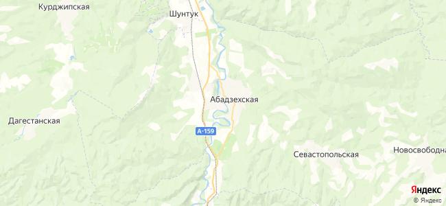 Абадзехская на карте