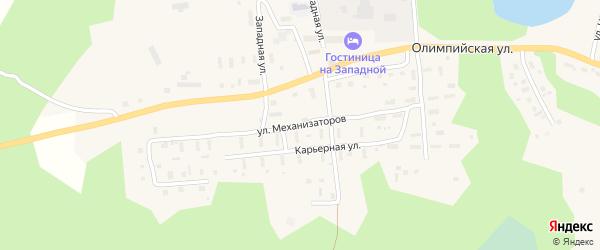 Улица Механизаторов на карте поселка Коноши с номерами домов