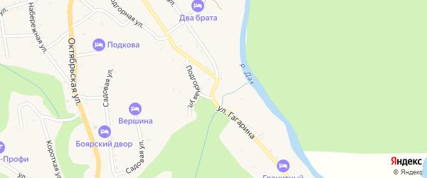 Улица Гагарина на карте Даховской станицы Адыгеи с номерами домов