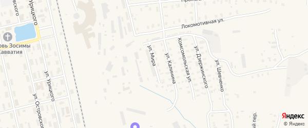Улица Мира на карте Няндомы с номерами домов