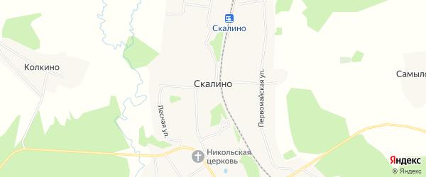Карта поселка при станции Скалино в Ярославская области с улицами и номерами домов