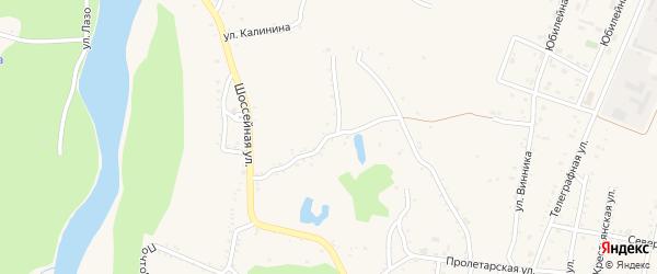 Партизанская улица на карте Абадзехской станицы Адыгеи с номерами домов