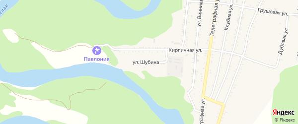 Улица Шубина на карте Абадзехской станицы Адыгеи с номерами домов