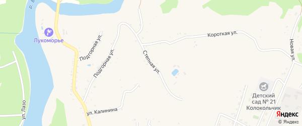 Степная улица на карте Абадзехской станицы Адыгеи с номерами домов