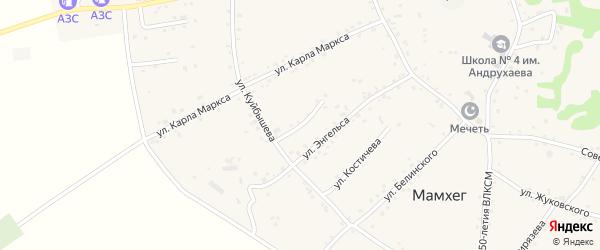 Улица С.Лазо на карте аула Мамхег Адыгеи с номерами домов