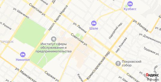 Карта поселка Уголек в Шахтах с улицами, домами и почтовыми отделениями со спутника онлайн