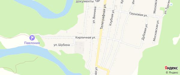 Кирпичная улица на карте Абадзехской станицы Адыгеи с номерами домов