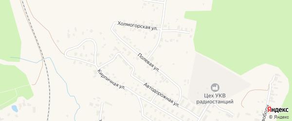 Полевая улица на карте Няндомы с номерами домов