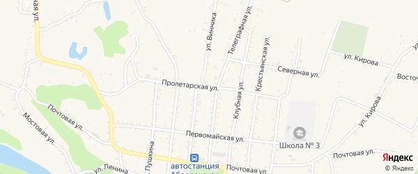 Пролетарская улица на карте Абадзехской станицы Адыгеи с номерами домов
