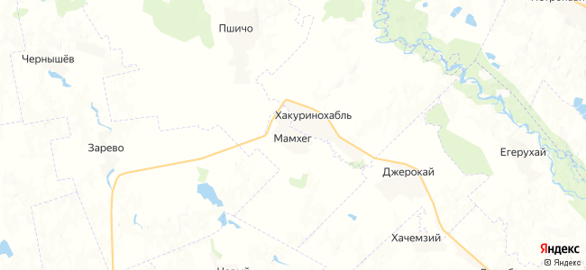 Мамхег на карте