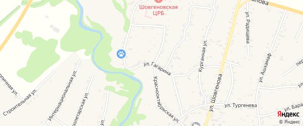 Улица Гагарина на карте аула Хакуринохабля Адыгеи с номерами домов