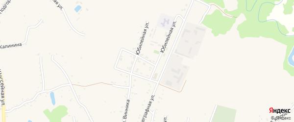 Юбилейная улица на карте Абадзехской станицы Адыгеи с номерами домов