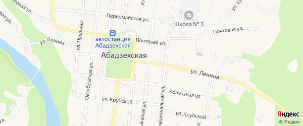 Улица Ленина на карте Абадзехской станицы с номерами домов