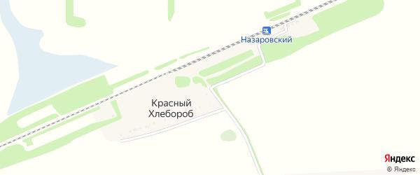 Железнодорожная улица на карте хутора Красного Хлебороба Адыгеи с номерами домов