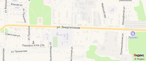 Восточная улица на карте Харовска с номерами домов