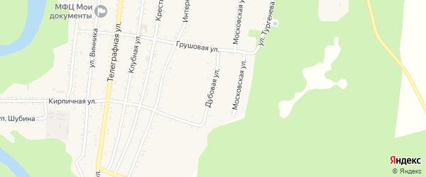 Дубовая улица на карте Абадзехской станицы Адыгеи с номерами домов