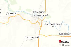 Карта г. Каменск-Шахтинский Ростовская область